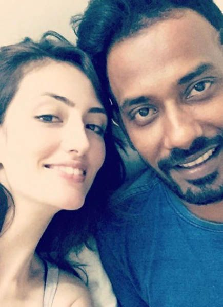 Dharmesh Yelande with his Girlfriend