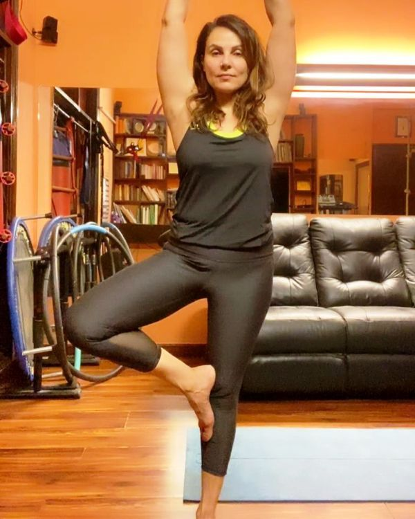 Dr. Anjali Hooda Sangwan Doing Yoga