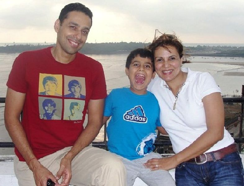 Dr. Anjali Hooda Sangwan With Her Husband and Son