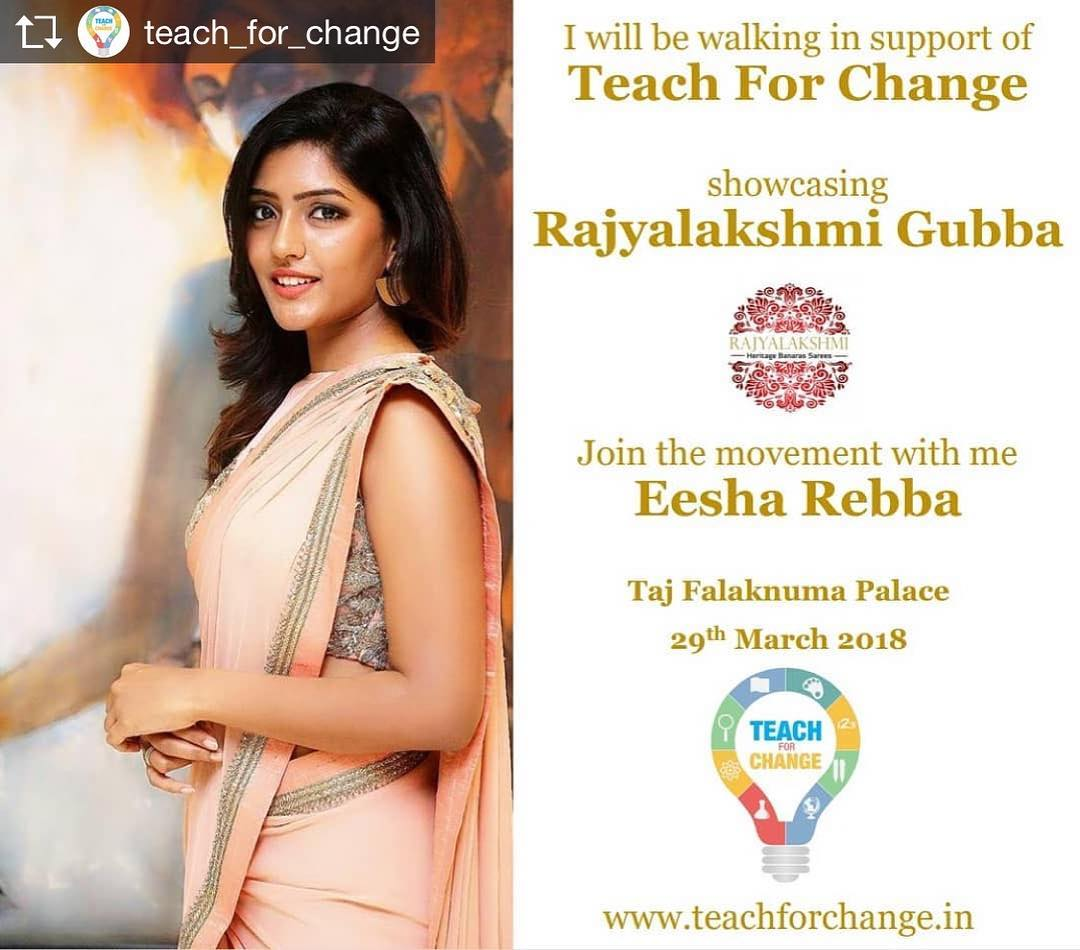 Eesha Rebba walked the ramp for a social cause