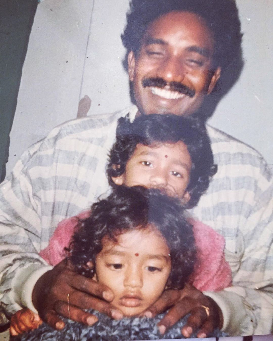 Eesha Rebba with her father