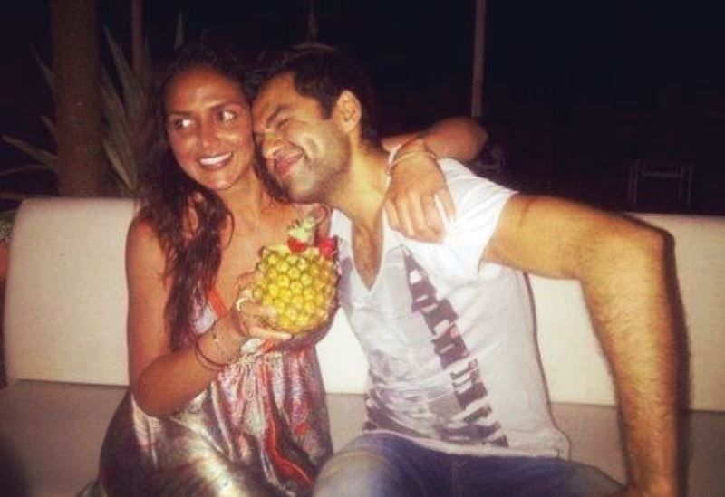 Esha Deol With Her Brother, Abhay Deol