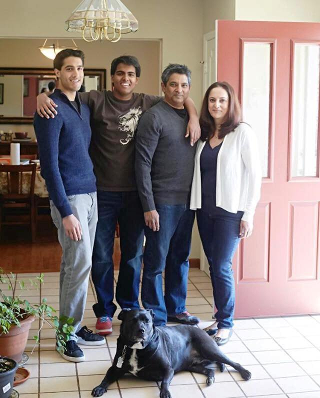 Floyd Cardoz With His Family