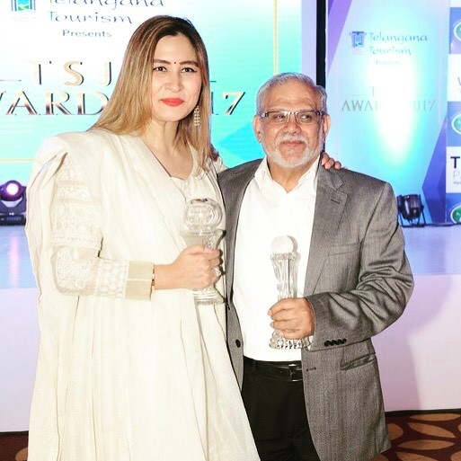 Jwala Gutta with her coach, S. M. Arif