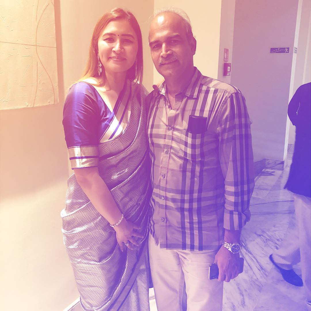 Jwala Gutta with her father