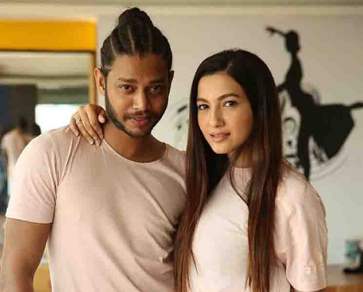 Melvin Louis with Gauhar Khan