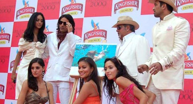Nargis Fakhri at the Launching Event of 2009 Kingfisher Calendar