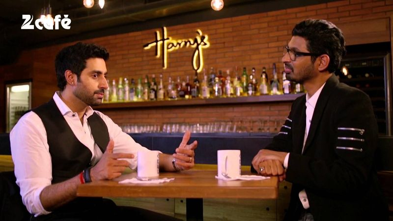 Niranjan Iyengar Interviewing Abhishek Bachchan on his show 'Look Who's Talking with Niranjan'