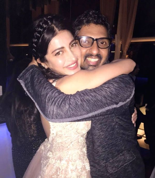 Niranjan Iyengar with Shruti Haasan
