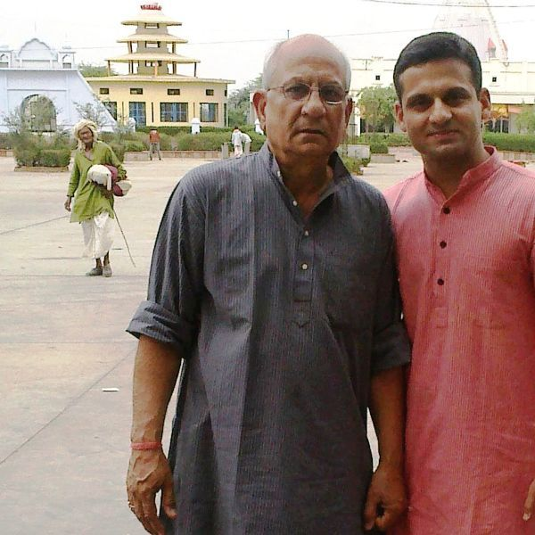 Nishant Chaturvedi With His Father