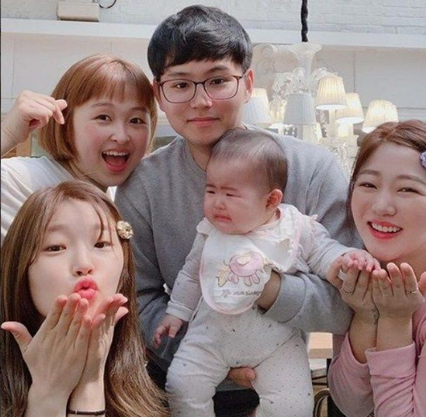 Park So-dam with her Family