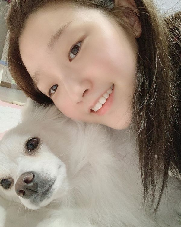 Park So-dam with her Pet Dog