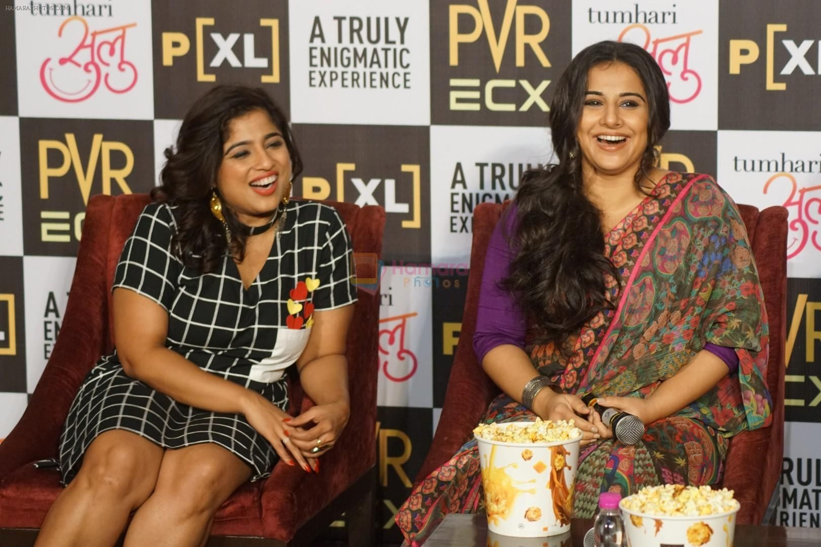 RJ Malishka During the Promotions of Tumhari Sulu
