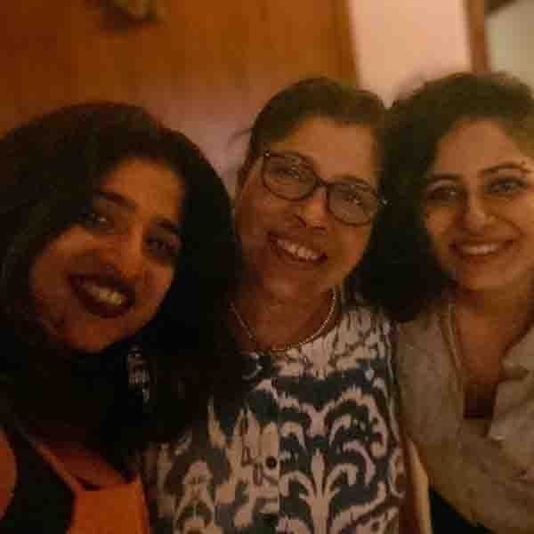 RJ Malishka with her Mother and Sister