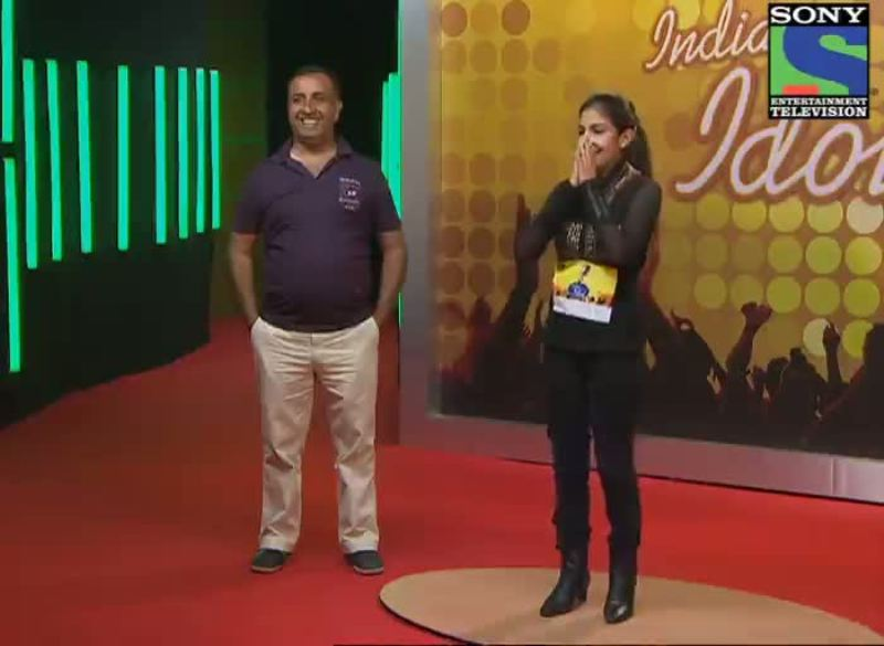 Rupali Jagga During the Indian Idol Auditions