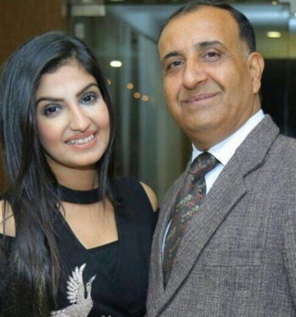 Rupali Jagga with her Father