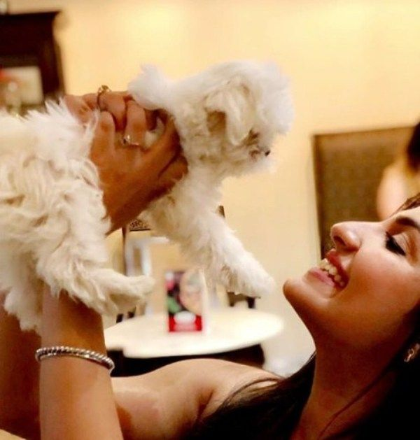 Rupali Jagga with her Pet Dog