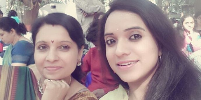 Rutuja Junnarkar with her mother