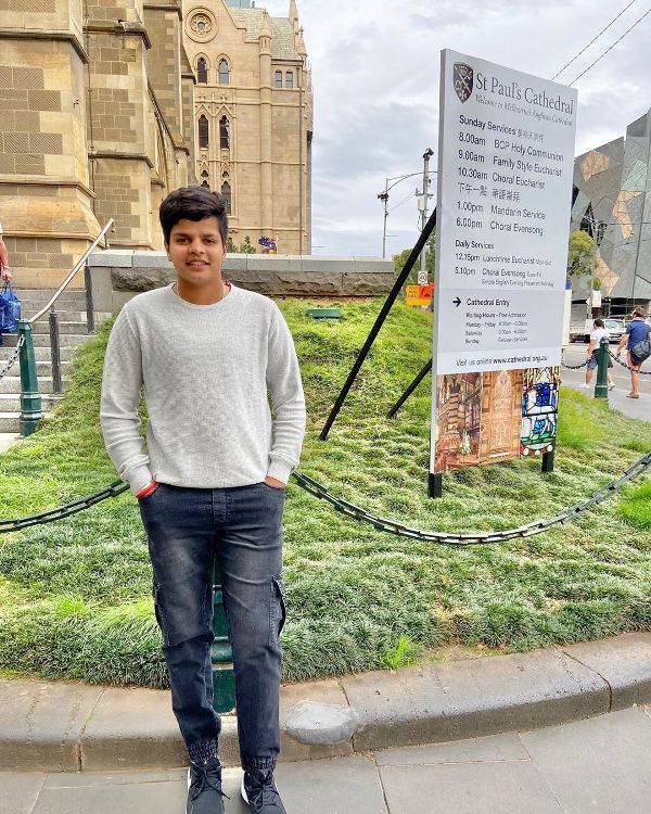 Shafali Verma in Melbourne downtown
