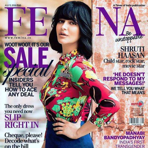 Shruti Haasan Featured on the Cover of a Magazine