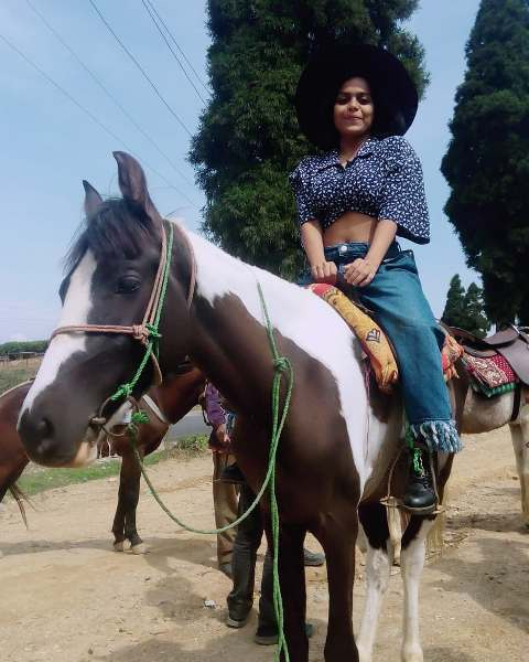 Sonal Vichare riding the horse