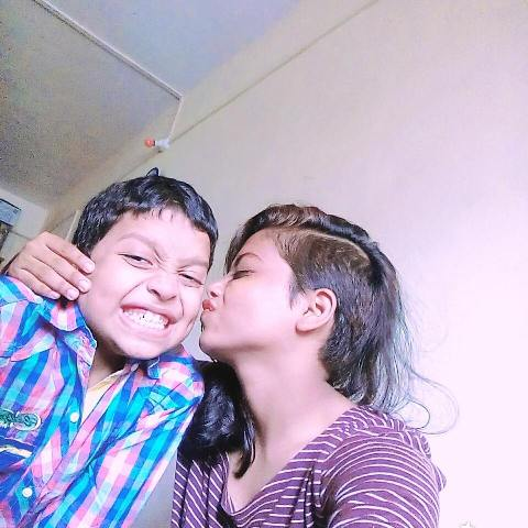 Sonal Vichare with her brother