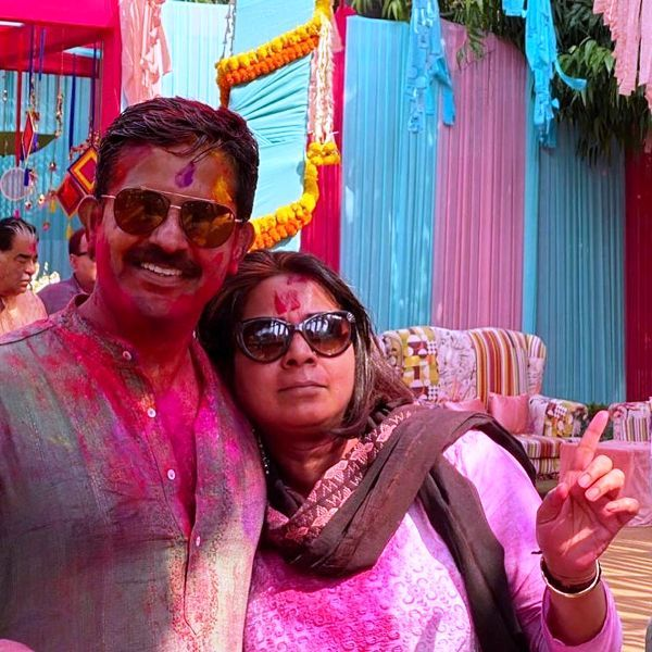 Sumit Awasthi With His Wife
