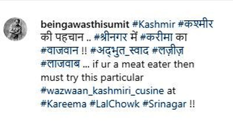 Sumit Awasthi's Instagram Post