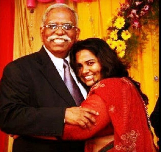 Sumukhi Suresh With Her Father
