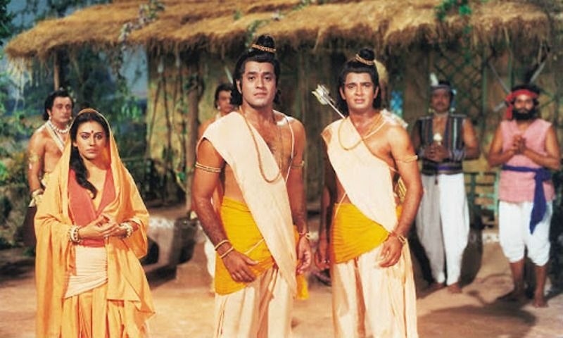 Sunil Lahri as Lakshman in Ramayan