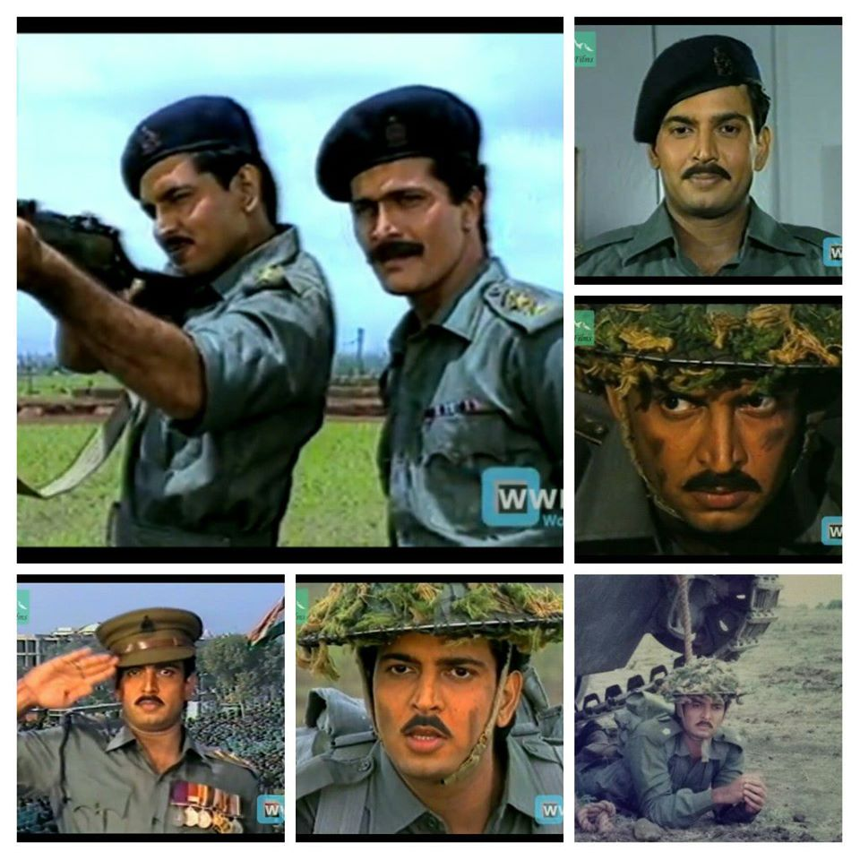 Sunil Lahri as Second Lieutenant Rama Raghoba Rane in the popular TV Series, Param Veer Chakra