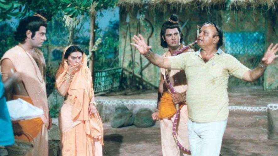 Sunil Lahri during the shoot of Ramayan