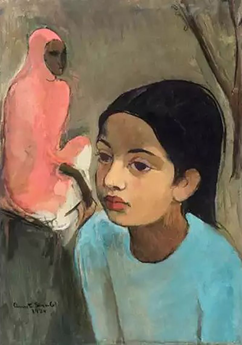 The Little Girl in Blue by Amrita Sher-Gil