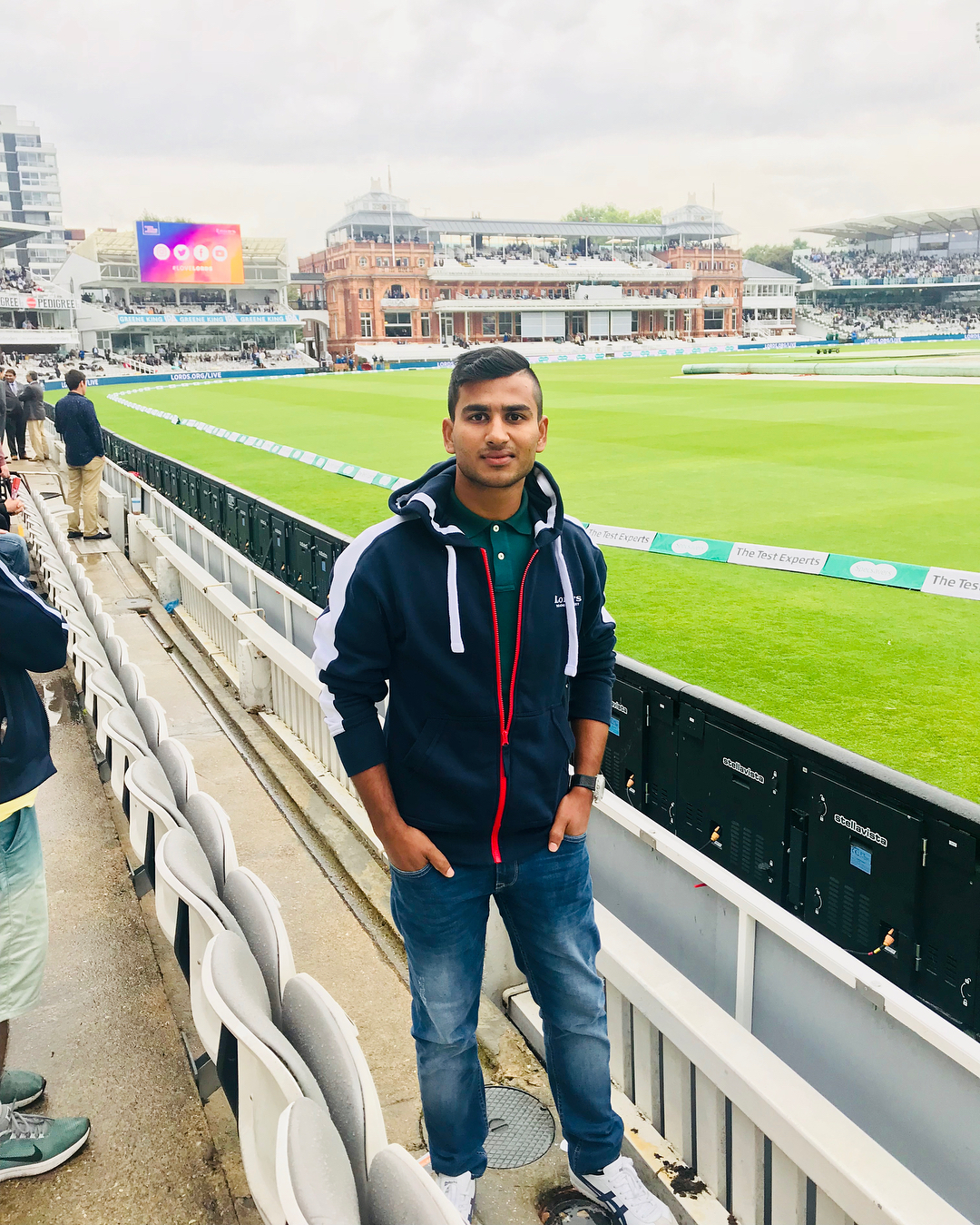 Virat Singh at the Lords Cricket Ground