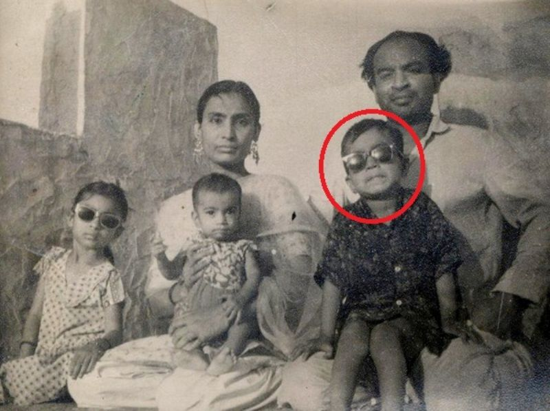A Childhood Photo of Irrfan Khan With His Parents and Siblings