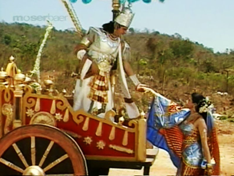 A still from the Subhadra Haran Episode of Mahabharat
