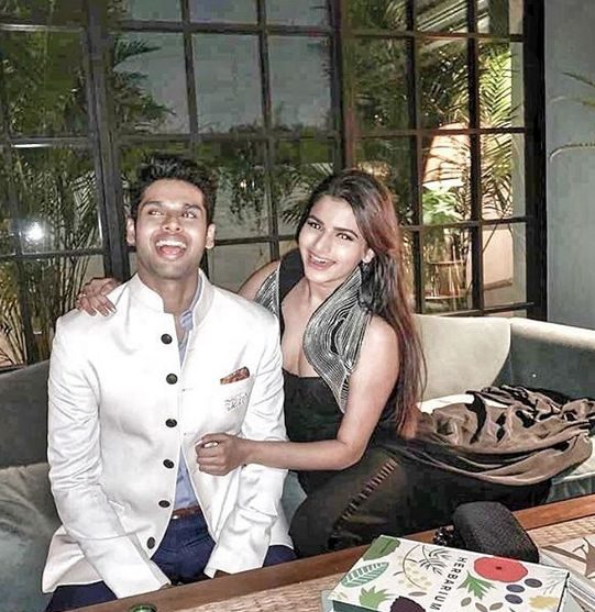 Abhimanyu Dassani with his sister