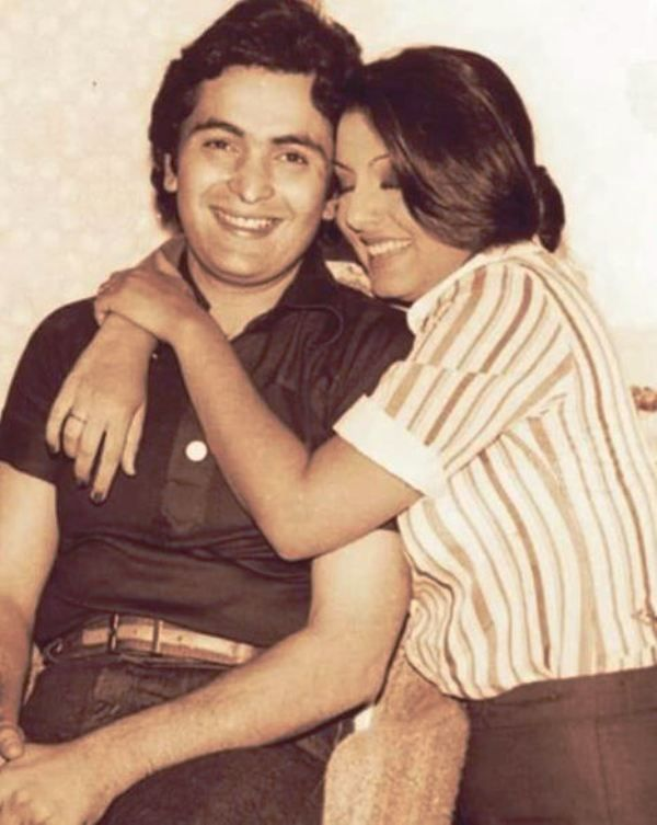 An Old Picture of Neetu Singh and Rishi Kapoor