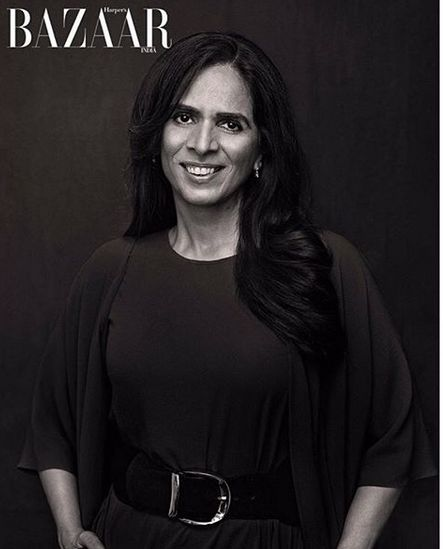 Anita Dongre on the cover of the Harper Bazaar magazine