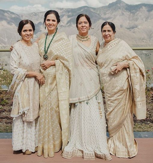 Anita Dongre with her mother and sisters