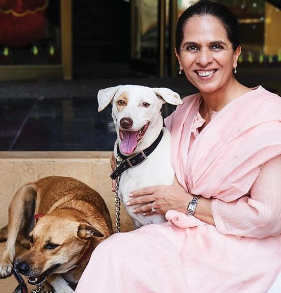 Anita Dongre with her pets