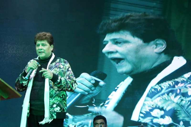 Arjun Firoz Khan performing at an event