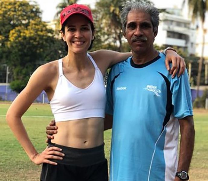Ayesha Billimoria with her Coach