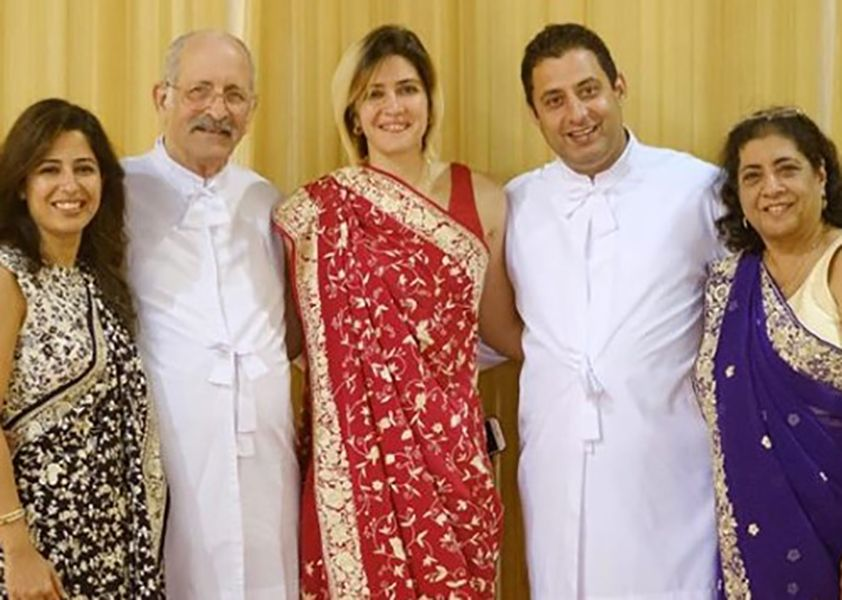 Ayesha Billimoria with her Family