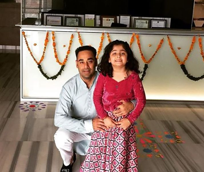 Bharat Sahni with his Daughter