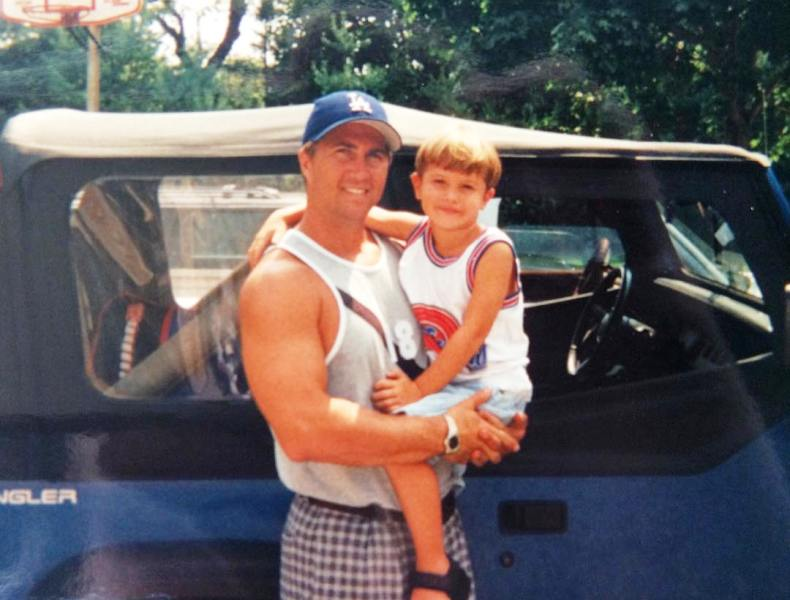 Chase Stokes With His Father Jeff Stokes