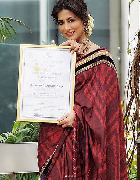 Chitrangada Singh with an award