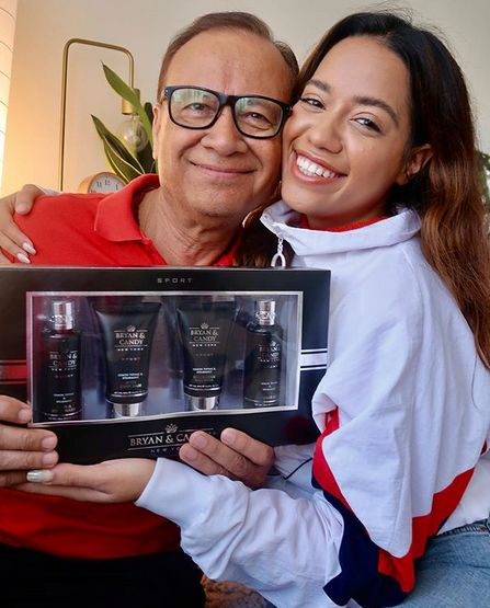 Debasree Banerjee with her father