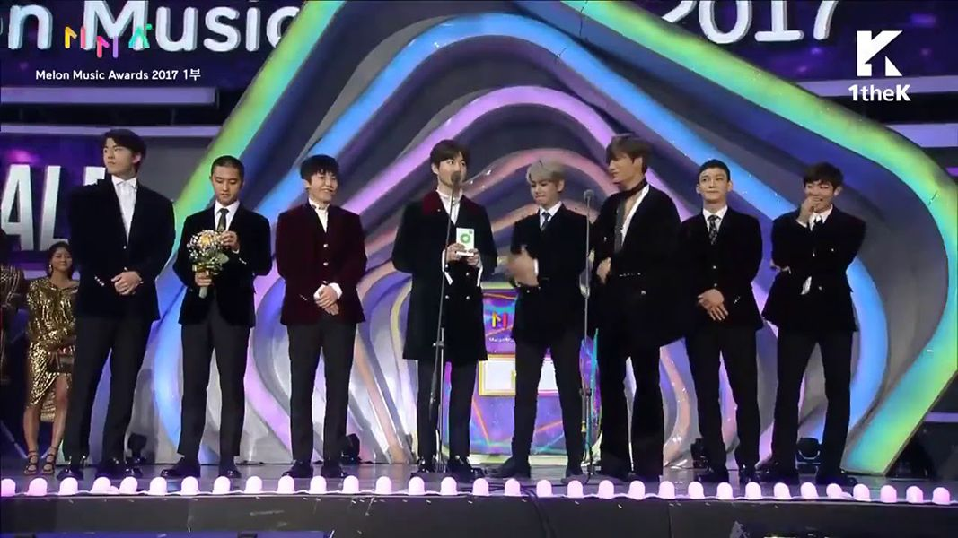 Exo Giving Award Acceptance Speech at Melon Music Awards
