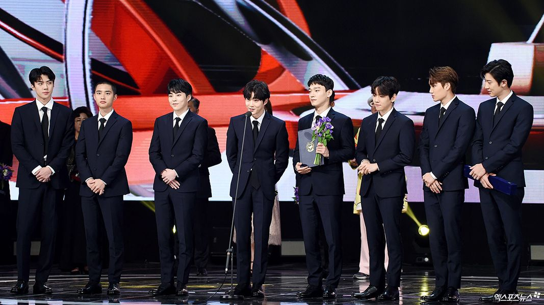 Exo Receiving Prime Minister's Commendation